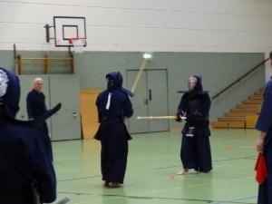 Kendo-Lehrgang mit R. Lehmann (7. Dan K.) und B. Klein (7. Dan R.)